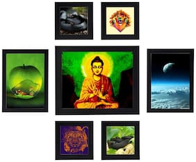 Swadesi Stuff Photo Frame Collage For Wall Decor Set of 7