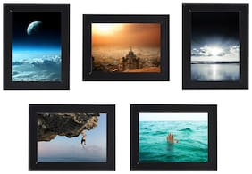 Swadesi Stuff Photo Frame Collage For Wall Decor Set of 5