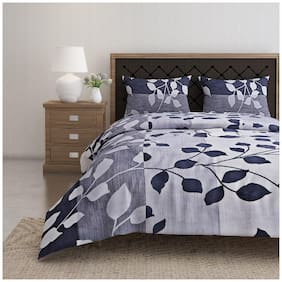 Swayam Cotton Floral Double Size Bedsheet 144 TC ( 1 Bedsheet With 2 Pillow Covers , Multi )
