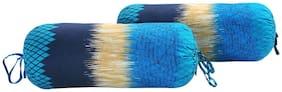 Swayam Abstract Cotton Satin Bolster Cover Set of 2