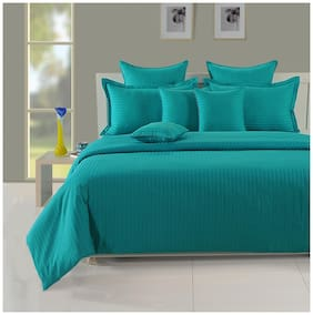 Swayam Aqua  Colour Double Duvet Cover