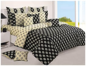 Swayam Black and Off White  Motifs Single Winter Quilt