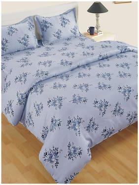 Swayam Satin Floral Single Size Comforter Blue