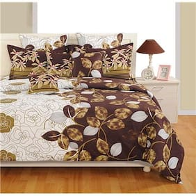 SWAYAM Brown and White  Bed in a Bag Set of 4