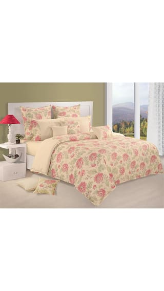 Swayam Cream and Pink  Floral Single Winter Quilt