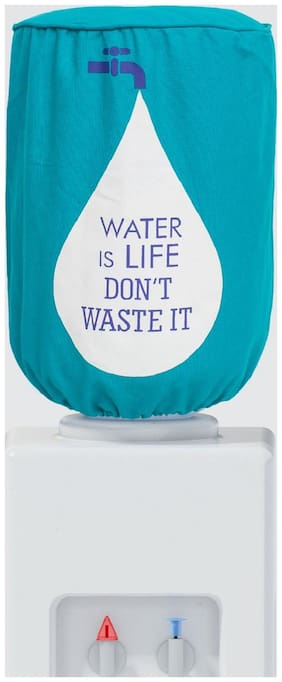 Swayam Digitally Printed Water is Life 20 L water dispenser Bottle Cover with water proof lining inside