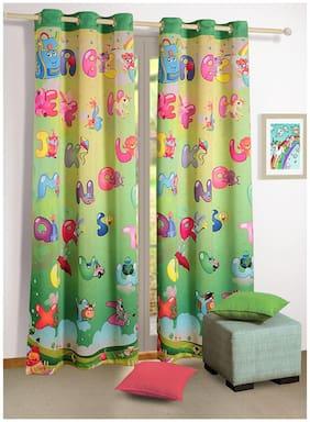 Swayam Silk Window Blackout Multi Regular Curtain ( Eyelet Closure , Motif )