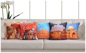 Swayam Ethnic Indian Theme Deco Cushion Cover Set of 5