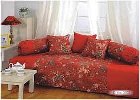 Swayam Cotton Floral Fitted Size Diwan Sets - Pack of 6