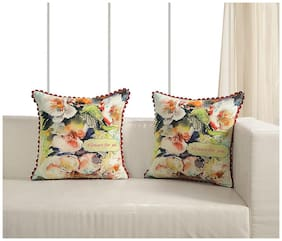 Swayam Floral Canvas Cushion Cover set of 2