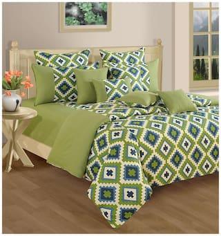 Swayam Green and Purple  Geometric Single Winter Quilt
