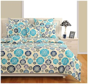 Swayam Cotton Floral Double Size Bedding Set