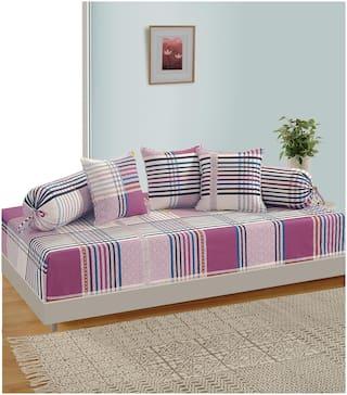 Swayam Cotton Geometric Single Size Diwan Sets - Pack of 6