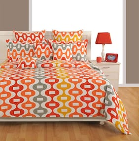 Swayam Cotton Geometric Duvets Assorted Set of 1