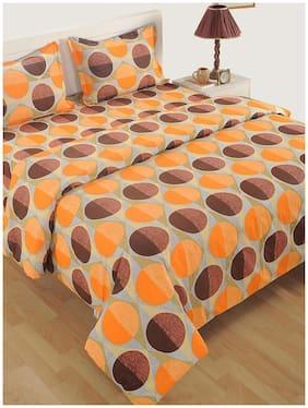 Swayam Cotton Geometric Double Size Comforter Orange