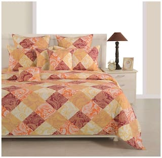 Swayam Orange  Colour Single Duvet Cover