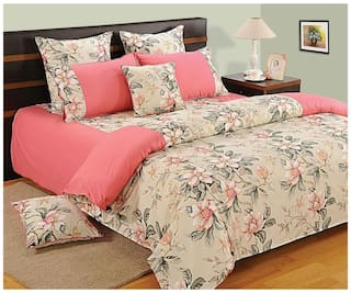 Swayam Pink and Peach  Floral Single Winter Quilt