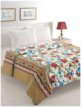 Swayam Polyester Floral Single Size Comforter White