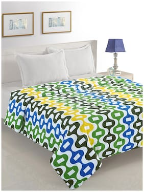 Swayam Polyester Abstract Single Size Comforter Blue