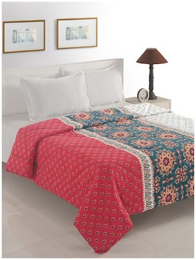 Swayam Polyester Printed Double Size Comforter Red