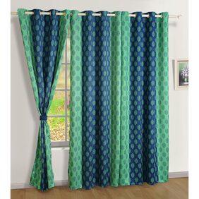 Swayam Beige  Ethnic Sigma Eyelet Curtain for Door