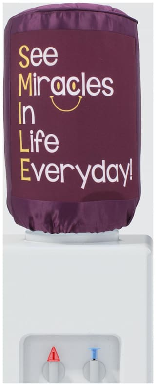 Swayam See Miracles in life everyday Digitally Printed 20 Ltr Water Dispenser Bottle Cover- Maroon