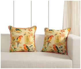Swayam Self Design Canvas Cushion Cover set of 2