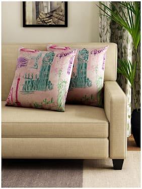 Swayam Self Design Cushions Cover (Pack Of 2;40 Cmx40 Cm;Multi)