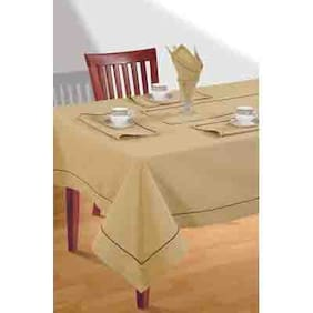 SWAYAM Beige  4 seater Flat Table Cover