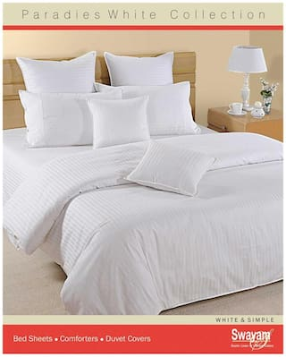 Swayam White  Double Winter Quilt