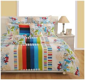 Swayam Cotton Floral Double Size Bedding Set