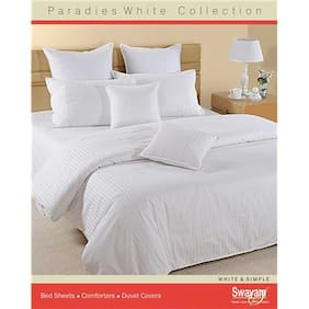 Swayam White  Single Winter Quilt