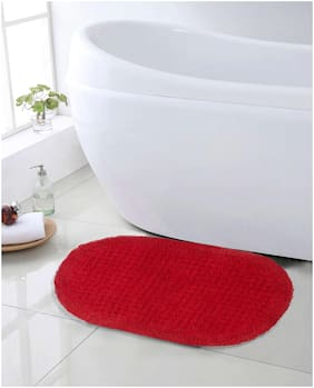 SWHF Premium Cotton Anti Skid Bath Mat(Dark Brown)