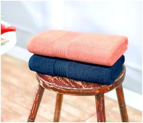 Swiss Republic Signature 2 pcs 630 GSM Cotton Bath Towel -Blue;Pink