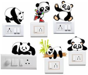 Switchboard Sticker Cute Panda Wall Sticker For Light Switch ( Switchboard Stickers )