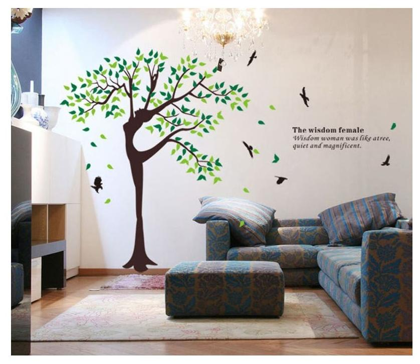 buy syga printed wall sticker ( set of 2 ) online at low prices in