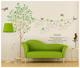 SYGA Tree With Photo Frame Decals Design Wall stickers