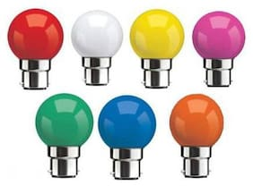 SYSKA 0.5 W STANDARD B22 LED BULB (Mix Colour, PACK OF 7)