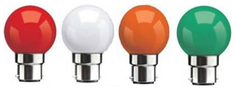 SYSKA 0.5 W STANDARD B22 LED BULB  Mix Colour, PACK OF 4  by Promise Com