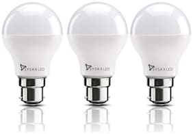 Syska 12 Watt Led Bulb White Light, Pack of 3