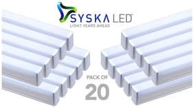 Syska 18 Ws T5 LED Tube Light (Pack of 20, Cool Day Light)