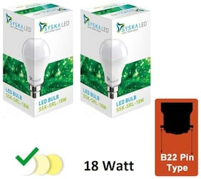 Syska 18 Watt B22 LED Bulb (Pack of 2)