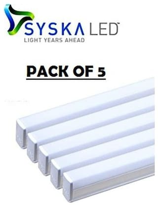Syska 22w 4 ft Led Tube Light Pack Of 5