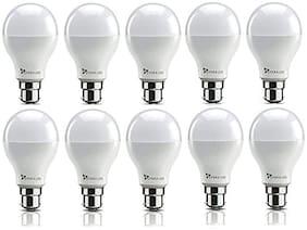 Syska 9 Watt Led Bulb White Light, Pack of 10