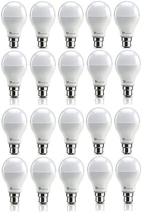 Syska 9 Watt Led Bulb White Light, Pack of 20