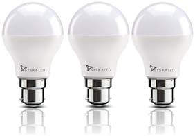 Syska 9 Watt Led Bulb White Light, Pack of 3
