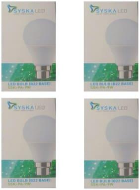 Syska 9 Watt B22 LED Bulb (Pack of 4)