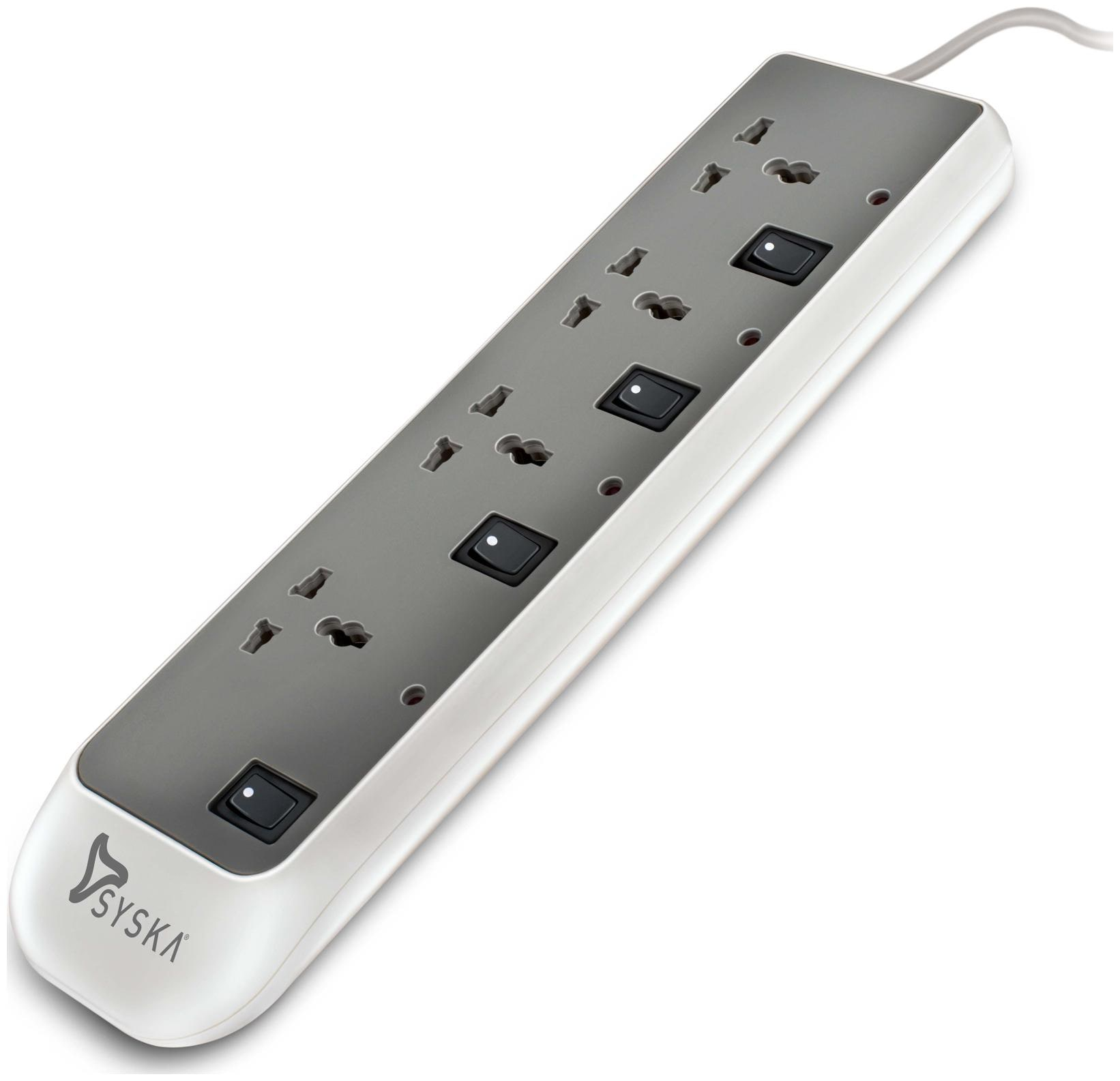 Syska EBS 4 Socket Surge Protector with Individual Switch per socket