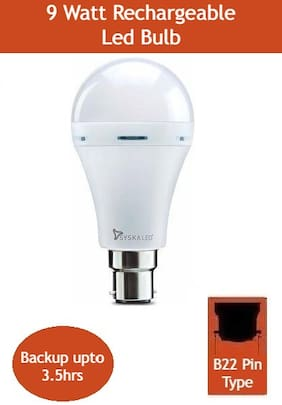 Syska SSK-EMB-09-01 B22 9 Watt Rechargeable LED Emergency Bulb  ( cool White )