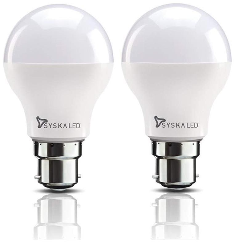 Syska SSK SRL 18W B22 18 Watt LED Bulb  Pack of 2, Cool Day Light